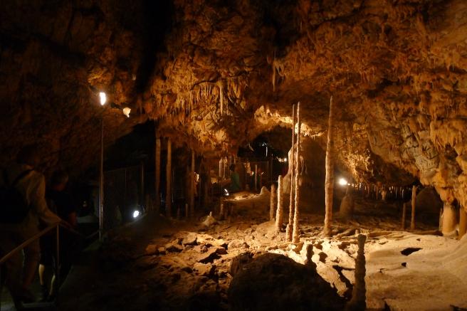Stalagmite cave