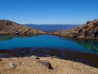 Emerald lakes and volcanic ground create an out of this world scenery.