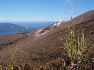 Mount Tongariro is still active.