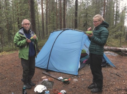 Hikers can stay on wild campsites or use open wilderness huts