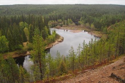 The trail follows two rivers, Oulanka and Kitkajoki