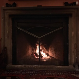 Fire creates a cosy atmosphere