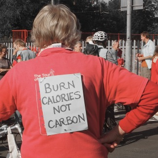 Carlisle strike started with a slow bicycle ride through the town