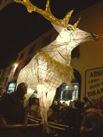 The lanterns represent the herded animals