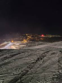 New Year's Eve offered bright weather for snowboarding