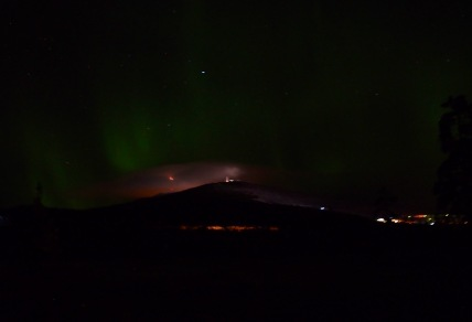 Northern lights were dim but they were there