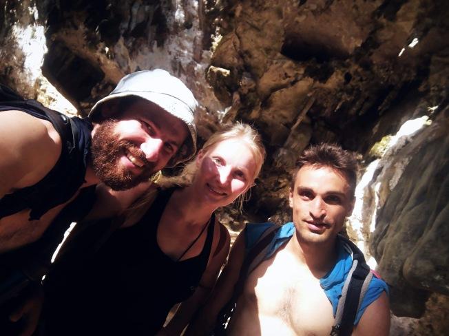 Climbing with Vita and Nicolas –photo credit Vita Raad