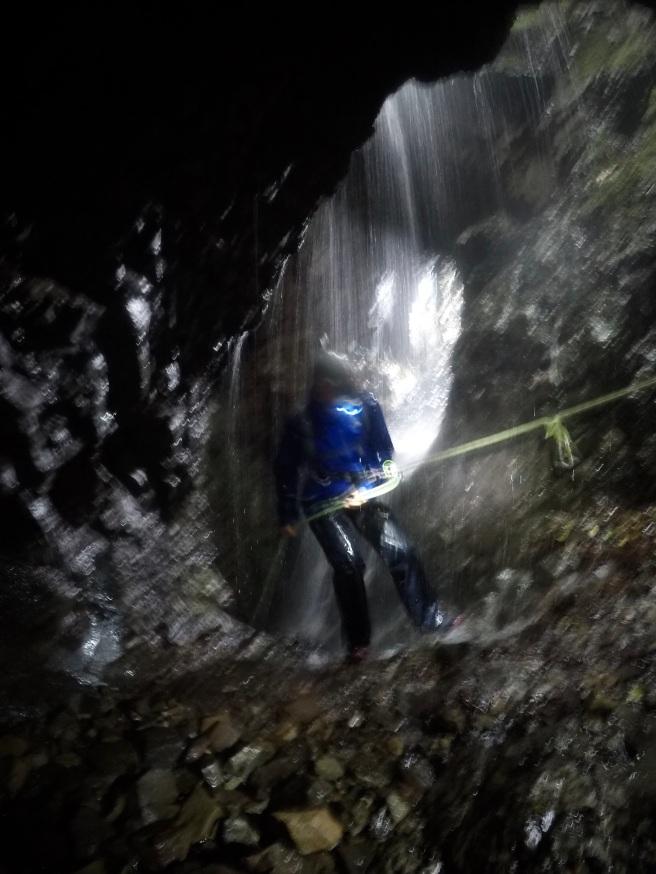 NEarherewayaway graphite mine waterfall