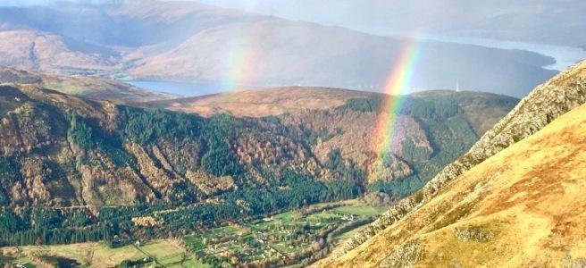 Double rainbows seen from Ben Nevis
