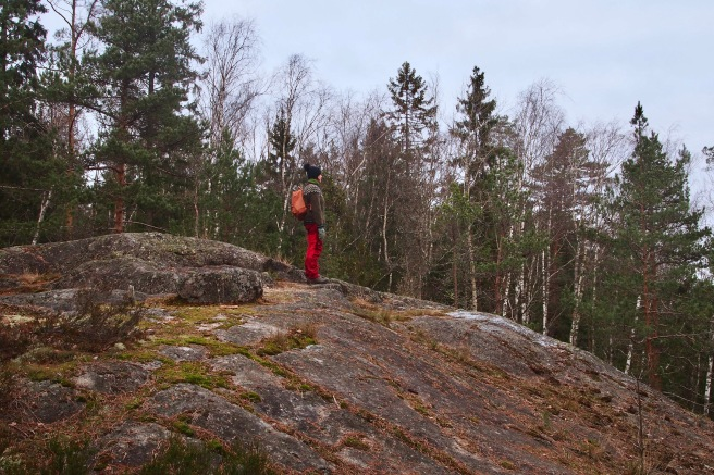 Woman on a cliff in Luukki